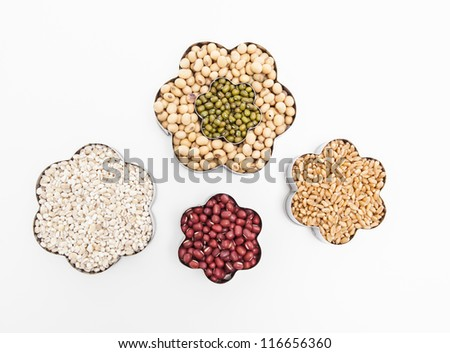 A set of seed isolated on white. - stock photo