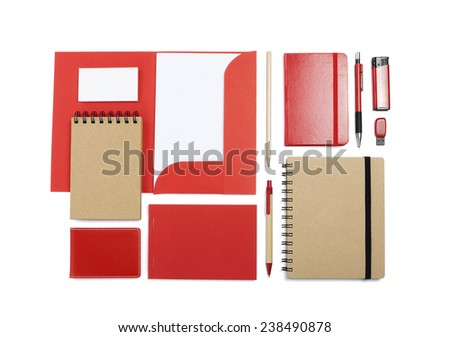 A set of stationery for the application of your logo - stock photo