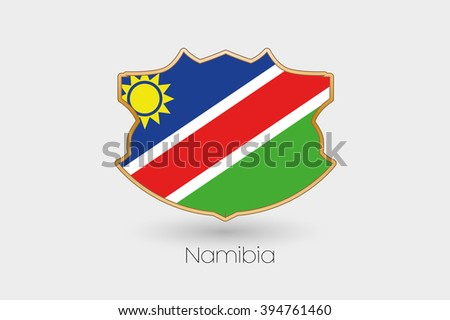 A shield flag illustration of namibia