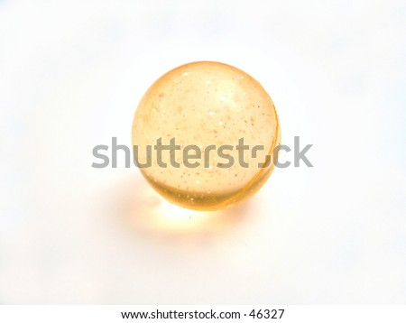 a shiny ball on a white background - stock photo