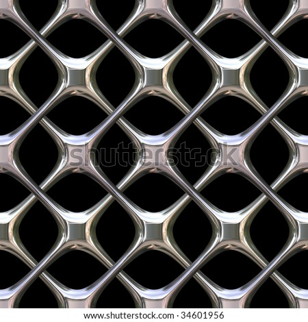A shiny chrome grill background that tiles seamlessly as a pattern.