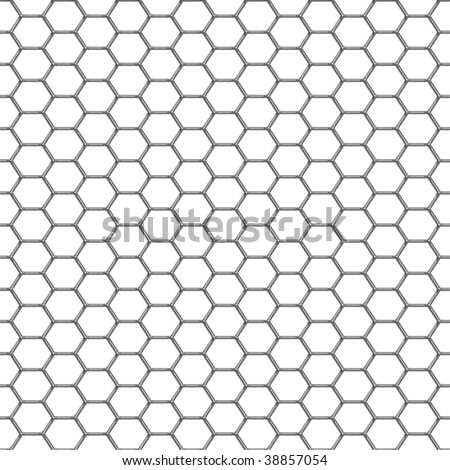 A shiny chrome grill background that tiles seamlessly as a pattern. - stock photo