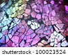 A shiny glass texture background with mosaic tile pieces that are very colorful. - stock photo