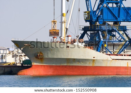 A ship heading to a new port  - stock photo