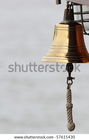a ships brass bell - stock photo