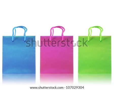 A shopping bag isolated against a white background - stock photo