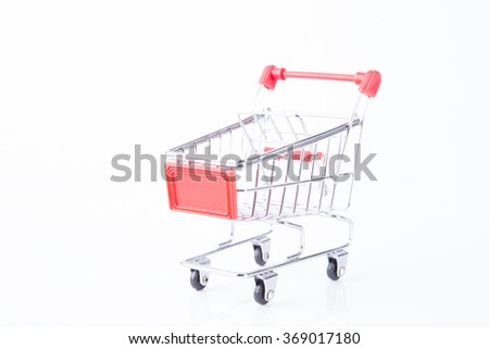 A Shopping Cart On White Background