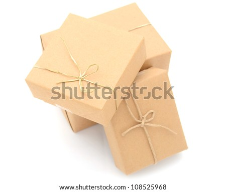 A shopping of friendly environment gift boxes