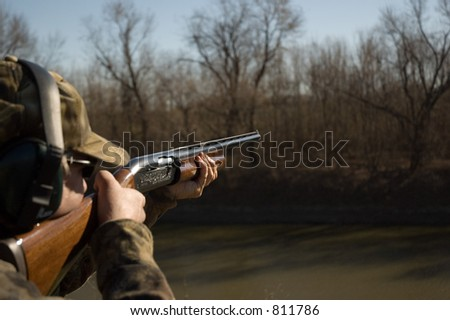 A Shot in the Cold - stock photo