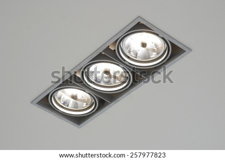 Shot ceiling light office stock photo 257977823 shutterstock a shot of a ceiling light in an office aloadofball Image collections