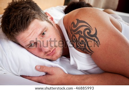 A shot of a couple having a relationship conflict - stock photo