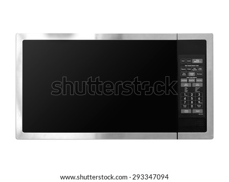 A shot of a kitchen microwave oven - stock photo