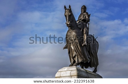 A shot of King Robert the Bruce - stock photo