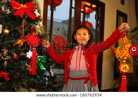 A shot of Oriental Child in Festival - stock photo