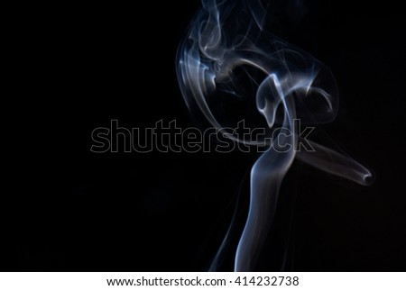 A shot of the shapes made by smoke cigarette