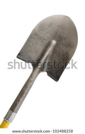 A Shovel Isolated On a White Background - stock photo