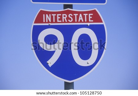 A sign for interstate 90