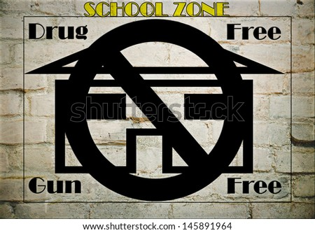 A sign with the concept of safety for our schools. - stock photo