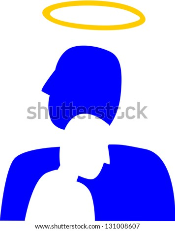 A silhouette of person that feels depressed through the image of a good person, that could possibly be the same person.