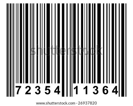 A simple black barcode like it is used on nearly all products - stock photo