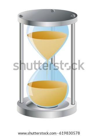 A simple illustration of an hourglass