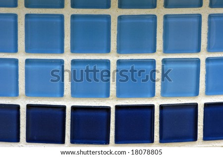 A simple part of blue toned mosaic tile as a background image