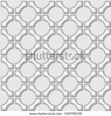 A simple seamless pattern - geometric gray elements - stock photo