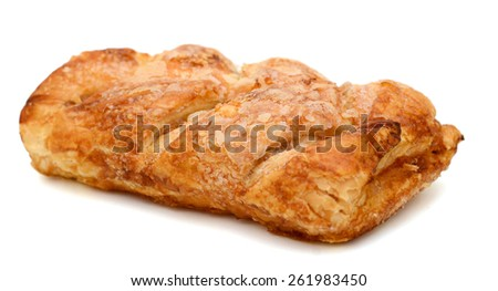 A single apple pie isolated white