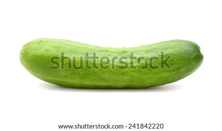 A single cucumber (cocktail cucumber) - stock photo