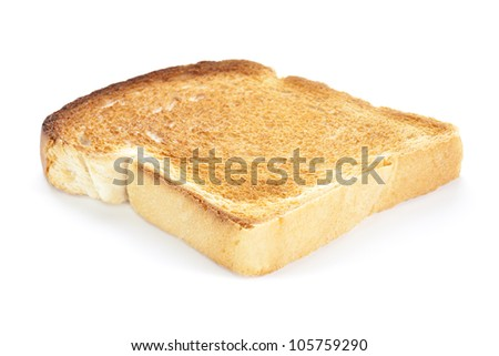 A single slice of white toast. - stock photo
