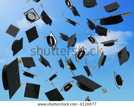 A skyfull of mortar boards.