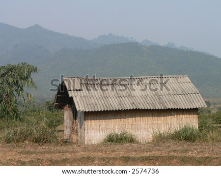 A Slum House of the H'mong in Vietnam - stock photo