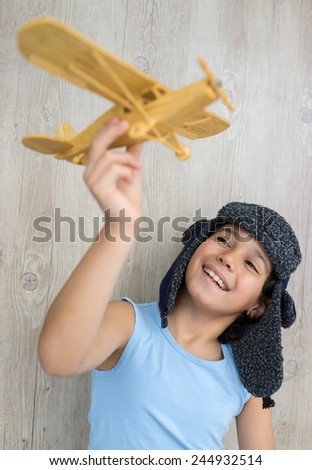 A small boy playing - stock photo