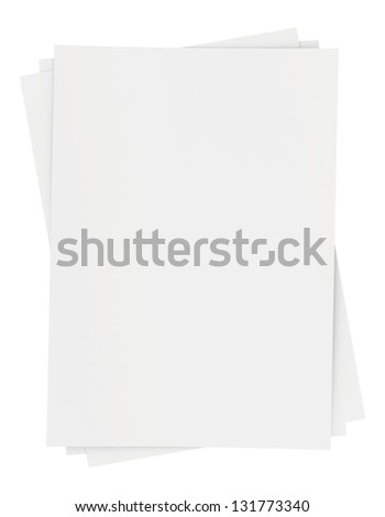 a small bunch of blank white sheets of paper - stock photo