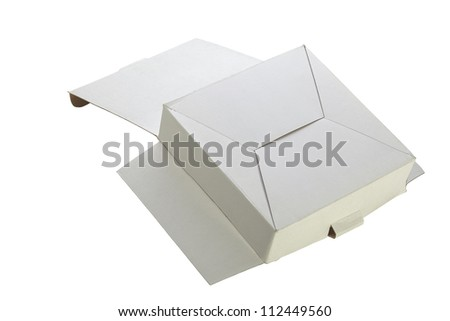 A  small cardboard box isolated on white background