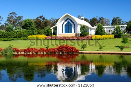 A small Chapel in the Hunter Valley. - stock photo