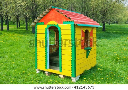 stock-photo-a-small-children-s-playhouse