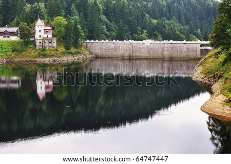 A small dam and power plant in Spindleruv Mlyn, Czech Republic - stock photo