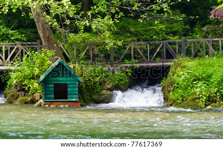 A small house on source of river of Bosnia