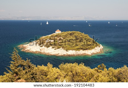 A small island near the island of Vis - Croatia