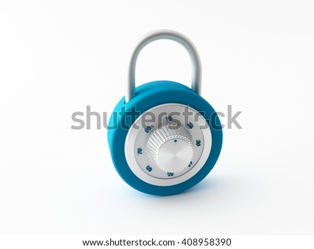 a small key lock on a white background