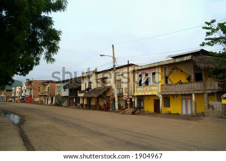 A small town in South America (Ecuador) - stock photo