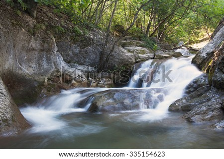 A small waterfall mountain river