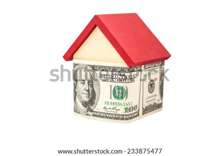 a small wooden house covered hundred dollars