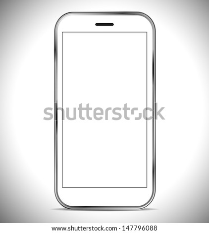 A smartphone isolated on a white background - stock photo