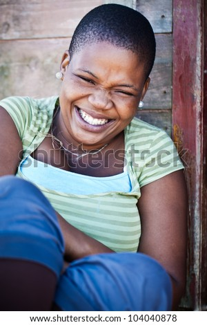 A smile bring out the moment thats mostly hidden in our personality. - stock photo