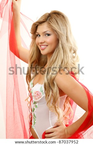 A smiling girl - stock photo