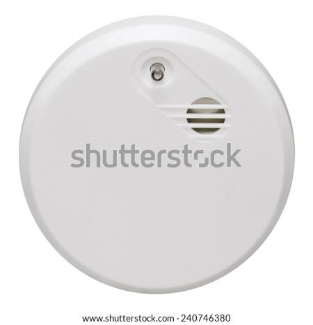 a smoke alarm in white back - stock photo