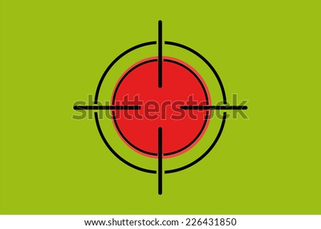 A Sniper Scope on the flag of Bangladesh - stock photo
