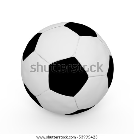 A soccer ball isolated - a 3d image - stock photo